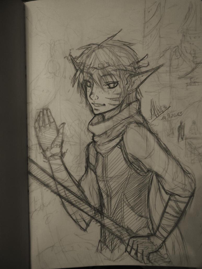 Elf Sketch by AliiLoveCookies