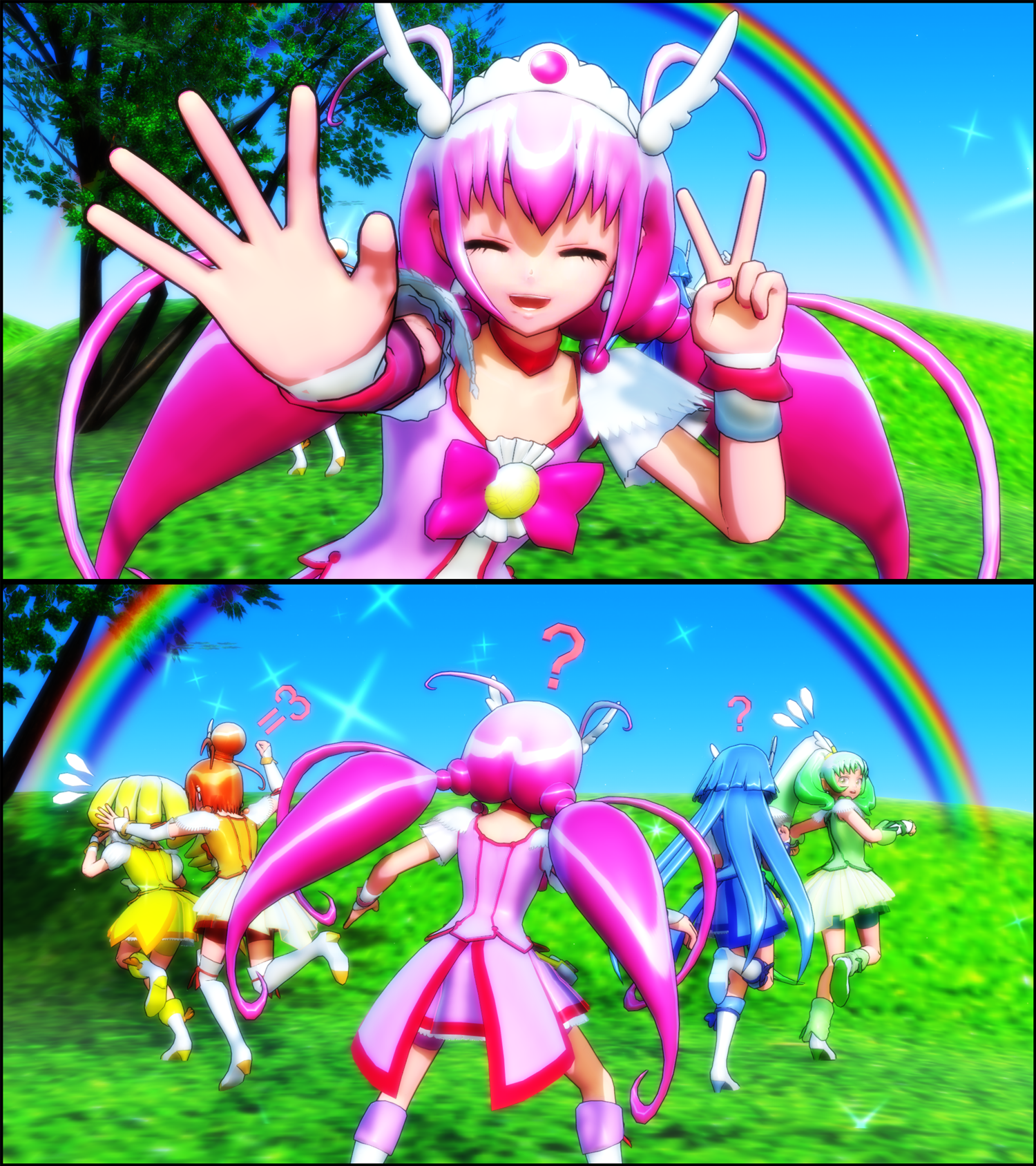 Smile Precure Characters Mmd Smile Precure By Luckyseven Didx