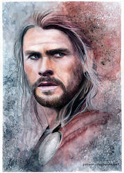 Thor | Watercolor
