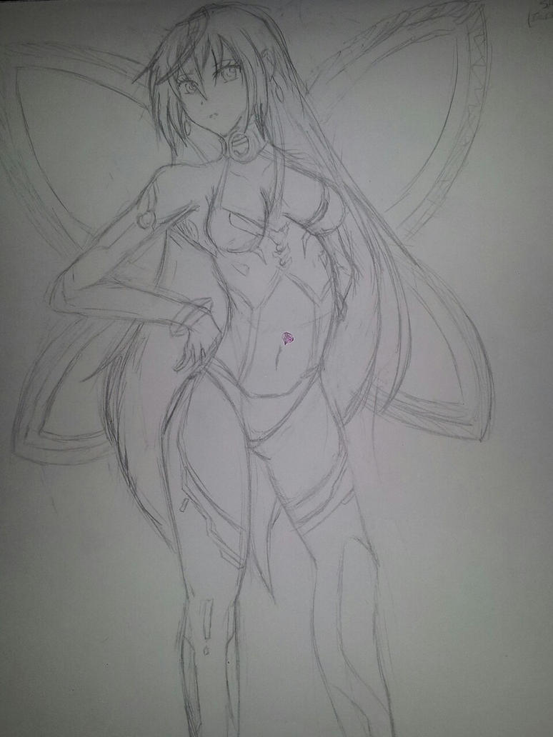 Iris Heart scribble by YumaLightning