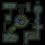 Clean mossy dungeon map for DnD / Roll20