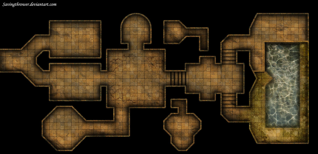 Clean Crypt Tomb Dungeon Map For Dnd Roll20 By