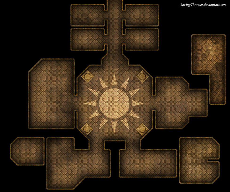 Clean Sun Temple map for DnD Roll20 by SavingThrower on DeviantArt