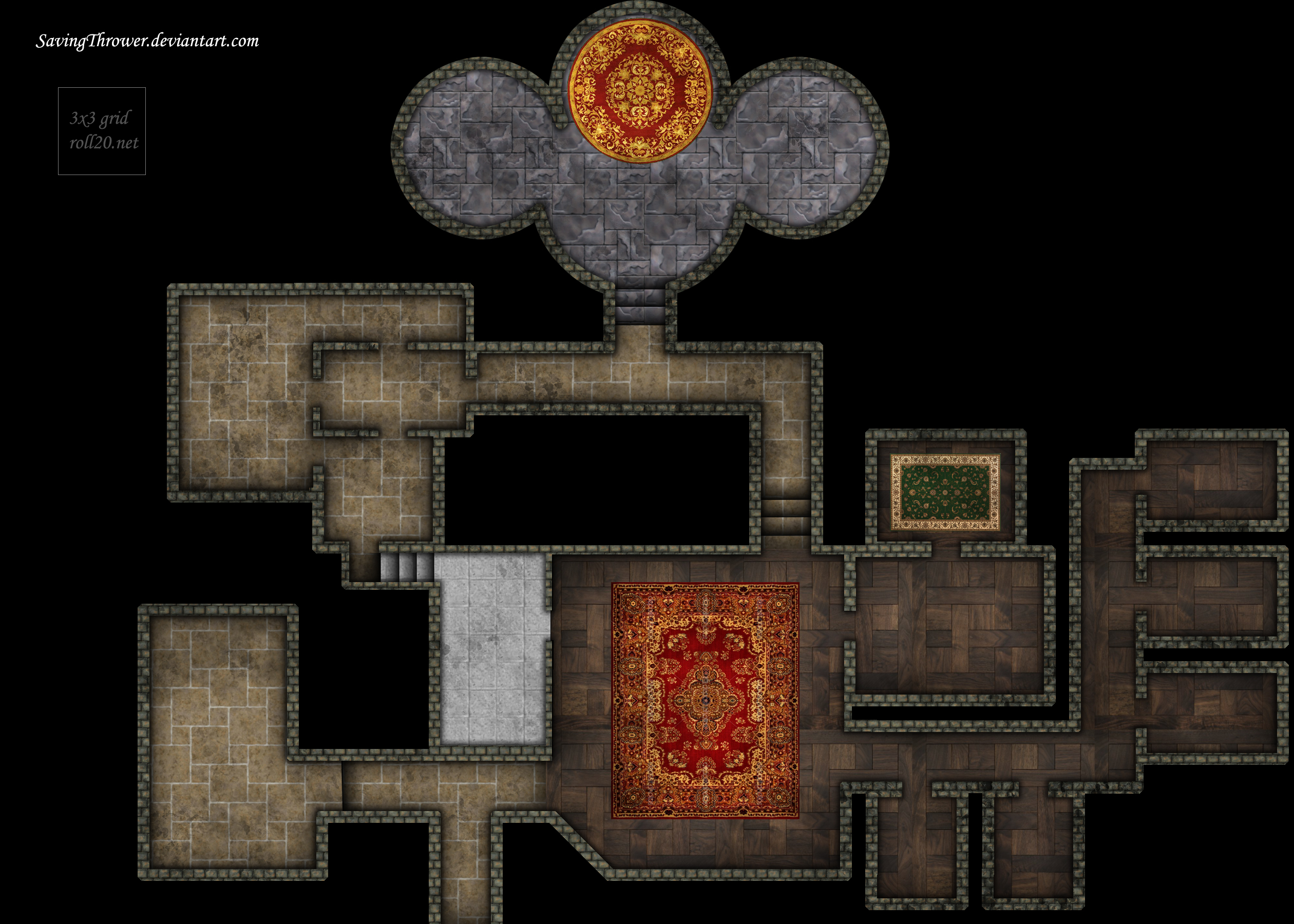 Online Floor Plan Tool Clean Manor Map For Online Dnd Roll20 By Savingthrower