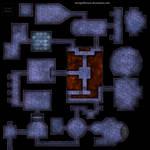 Clean classic dungeon battlemap for DnD / roll20