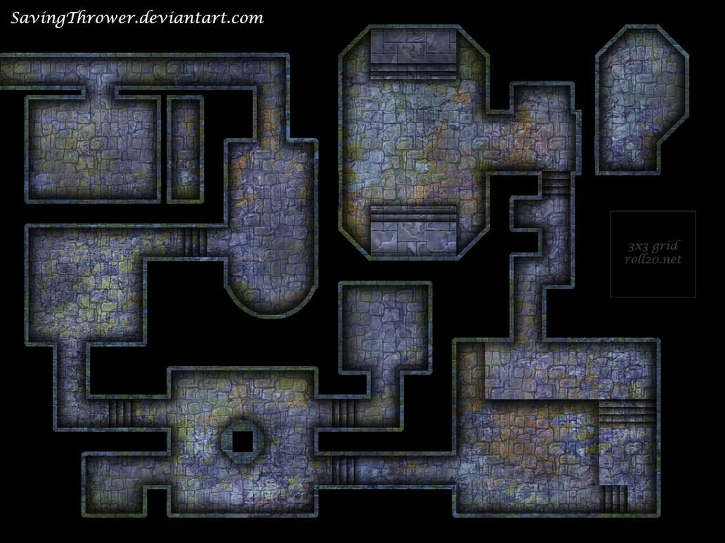 Clean Crypt Dungeon Battlemap For Dnd Roll20 By