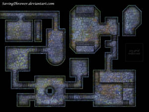 Clean crypt dungeon battlemap for DnD / roll20
