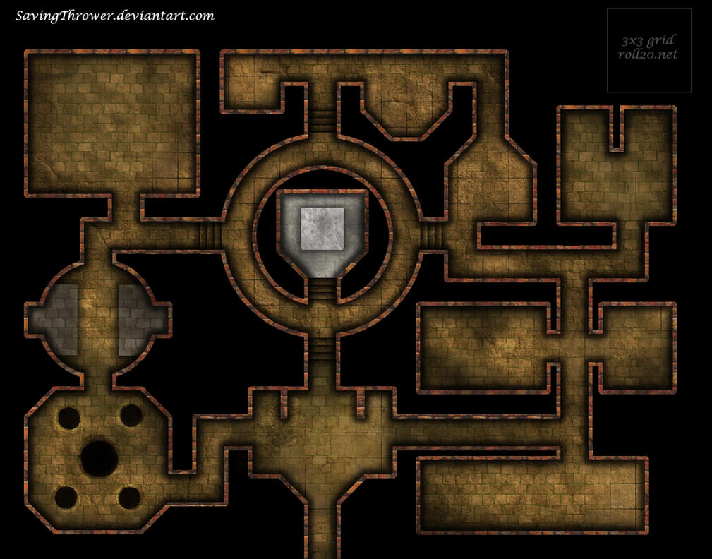 Clean Stone Dungeon Battlemap For Dnd Roll20 By