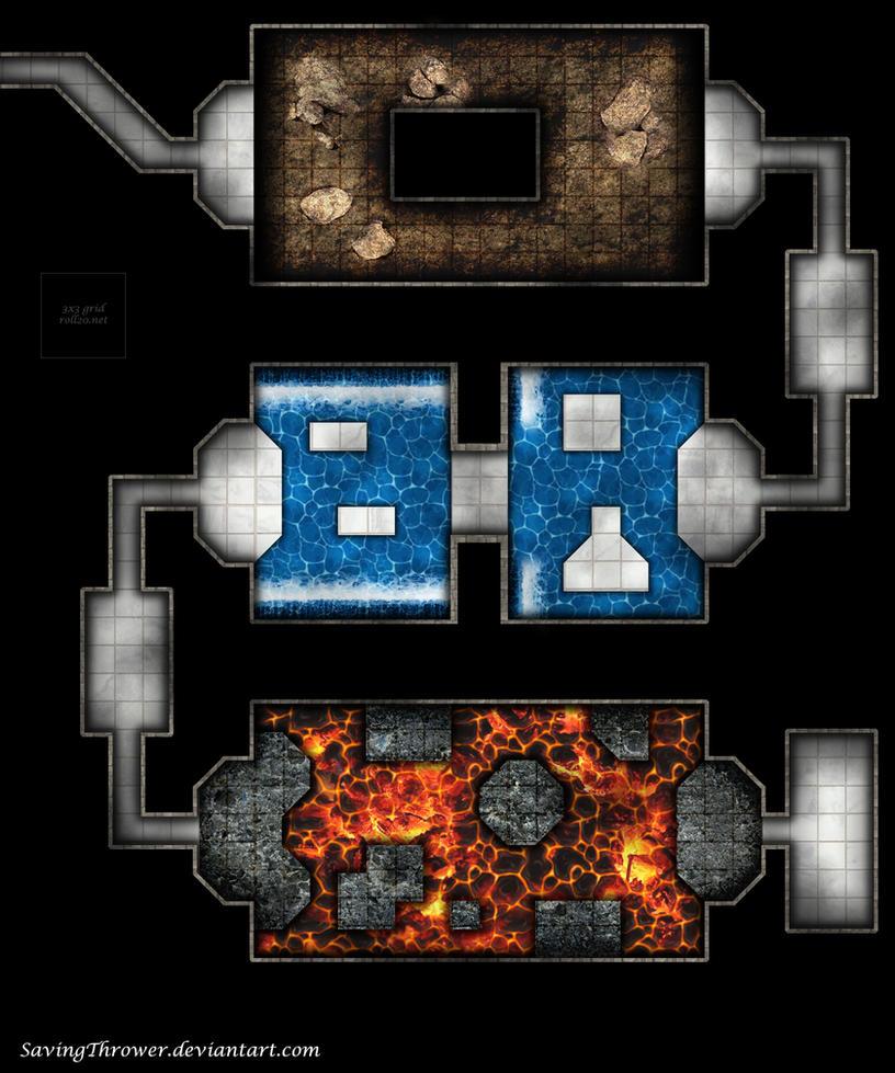 The trials dungeon battlemap for DnD / roll20 by SavingThrower