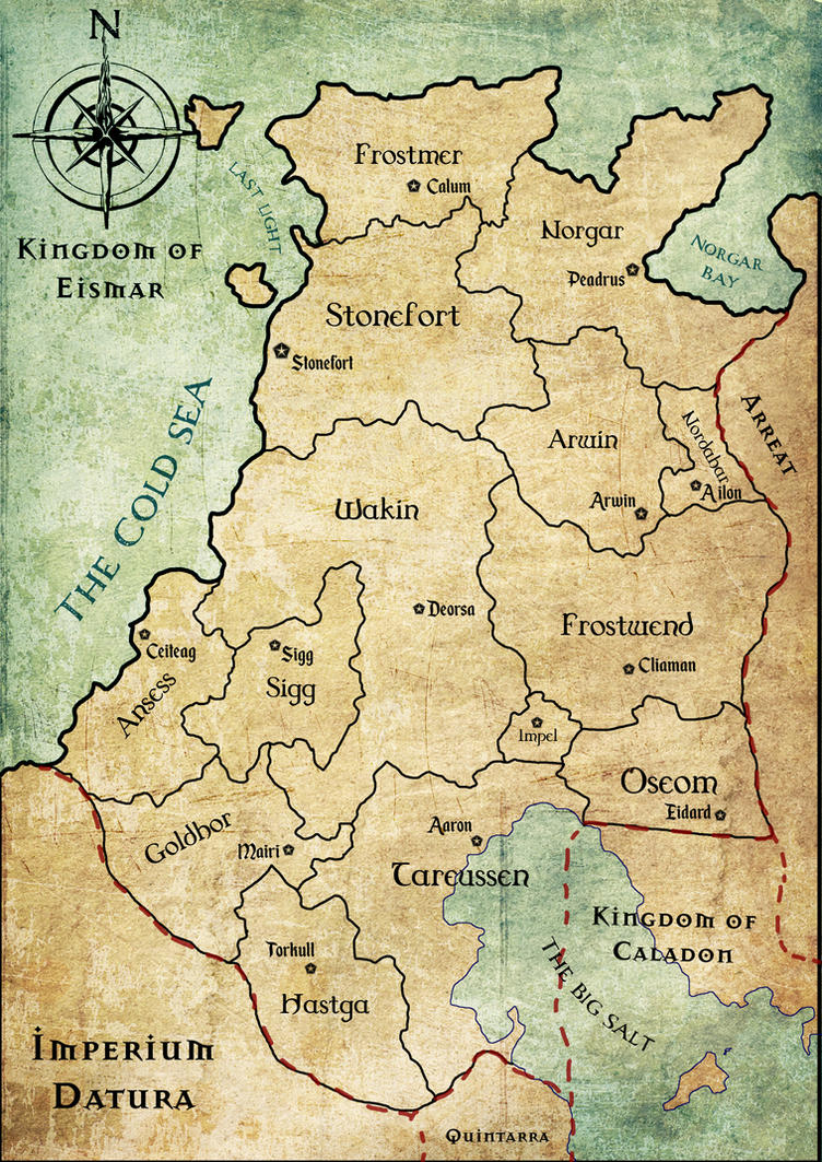 Eismar campaign political map (DnD) by SavingThrower