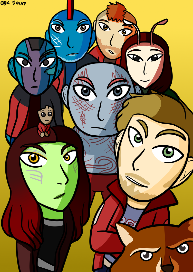 Guardians of the Galaxy by smartcookiethepony