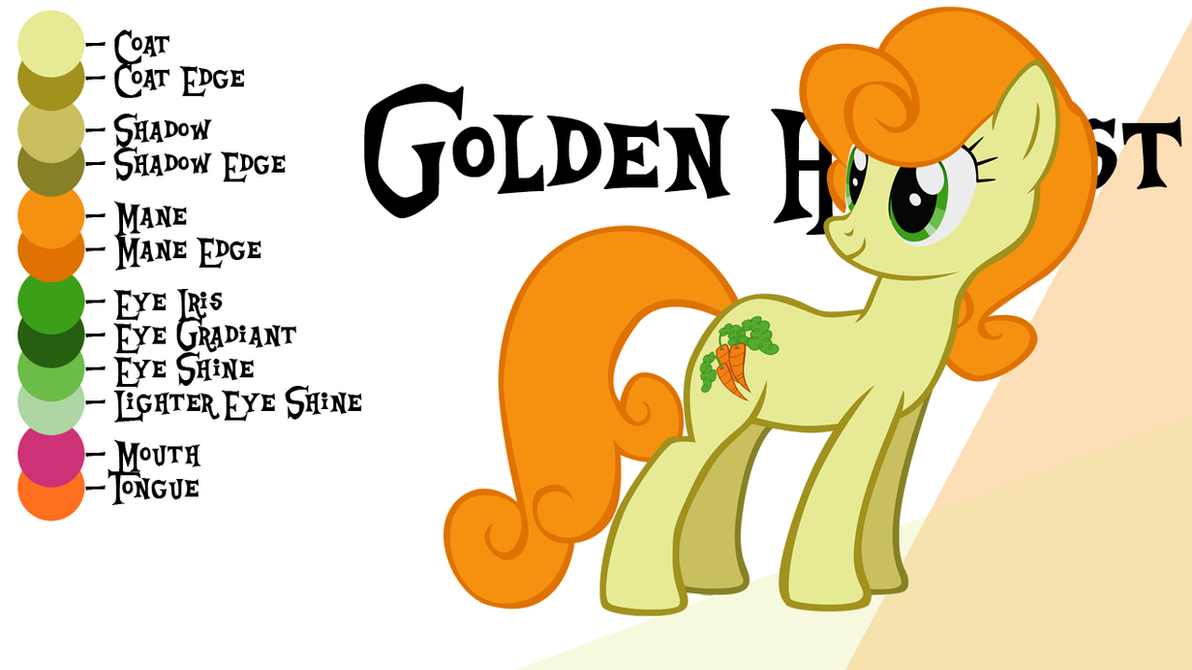 golden harvest mlp coloring pages - photo#2