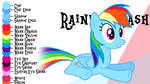 Colour Guide - Rainbow Dash