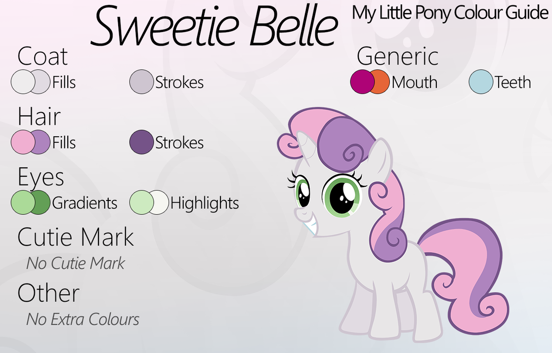 Colour Guide - Sweetie Belle by Liggliluff