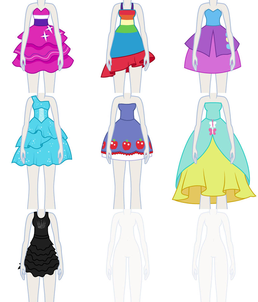 Eqg Dress Up Preview Dresses By Liggliluff On Deviantart