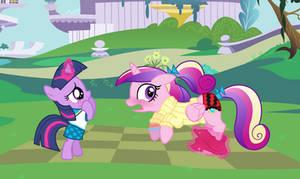 Filly Twilight skirts Cadance