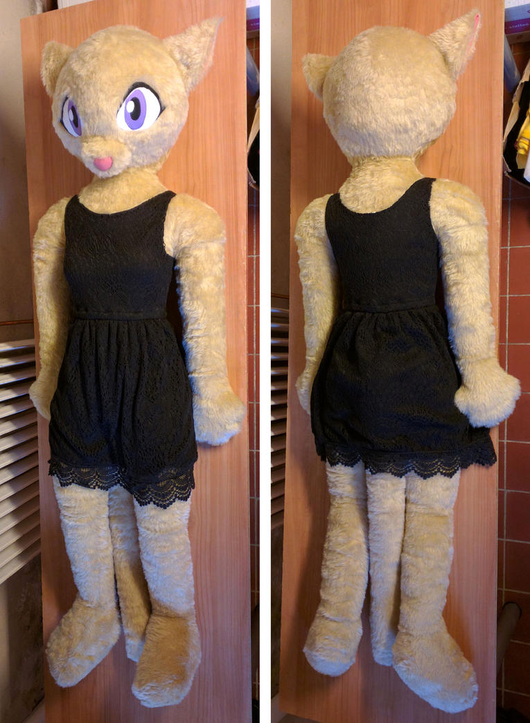 Life size anthro cat plush sold by liggliluff on deviantart for Life size shark plush
