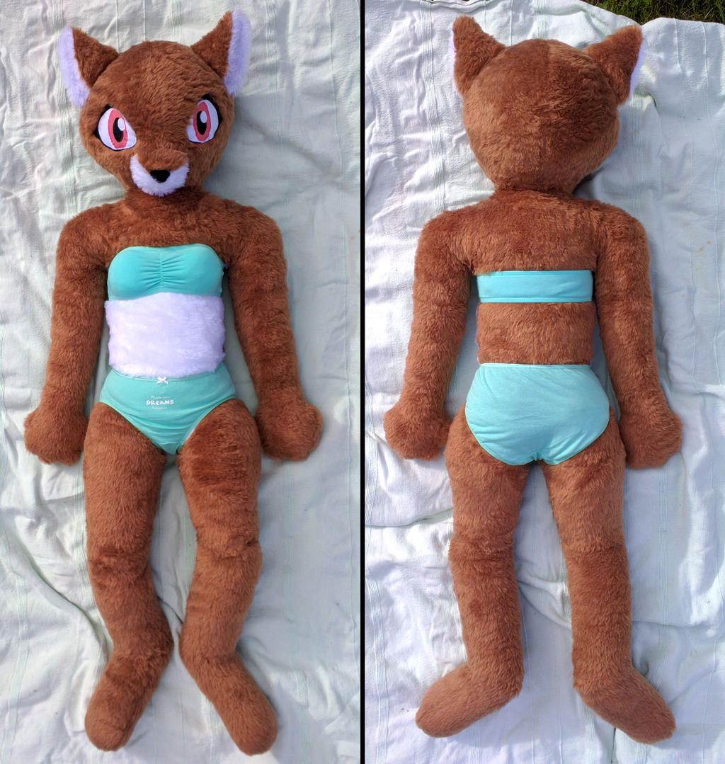 Life size anthro fox girl plush sold by liggliluff on for Life size shark plush