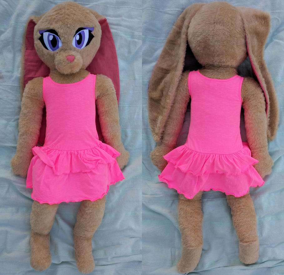 Life size anthro rabbit girl plush sold by liggliluff on for Life size shark plush