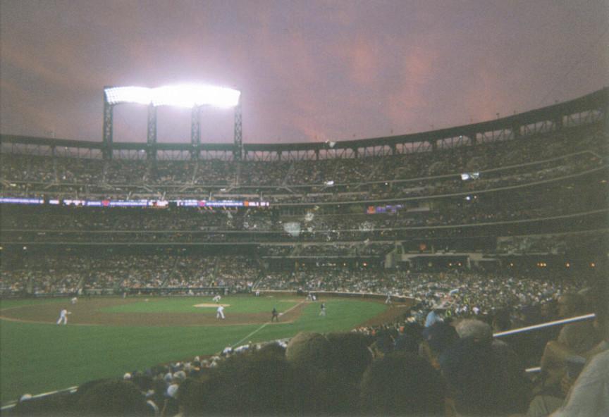 Baseball at Sunset by ikutophantomluver