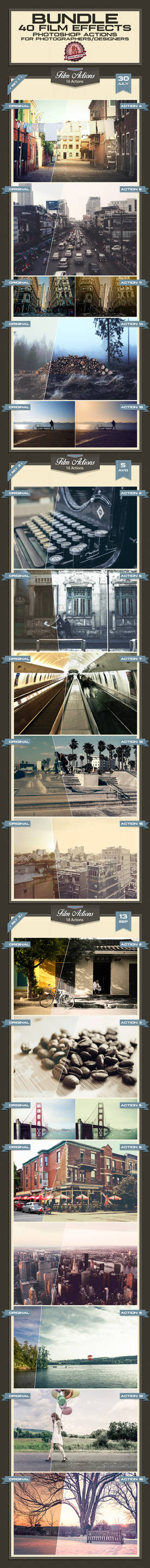 Film Effects Photoshop Actions - Premium!