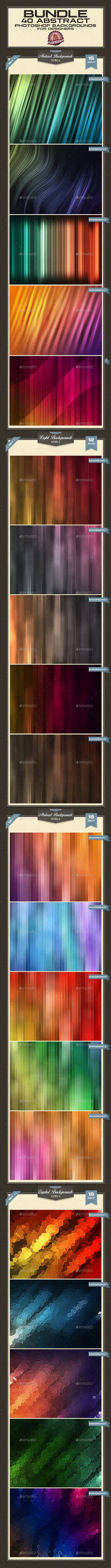 Abstract Photoshop Backgrounds - Bundle