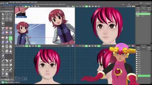 3D Modeling Timelapse - Hair - Part 1