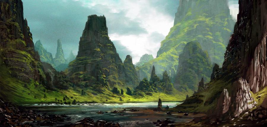 Landscape by Grosnez