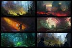 sketches - tests - composition - colors