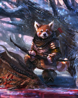 Azan, the archer by Grosnez