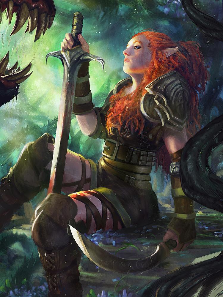 Redhead Elf by Grosnez