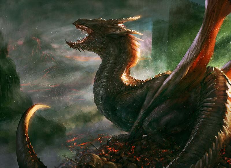 Shivan Dragon by Grosnez