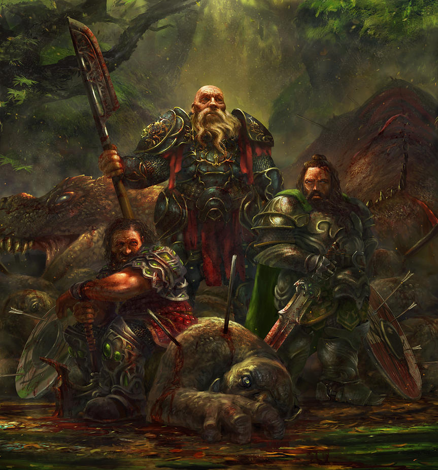 Dwarves - final version by Grosnez