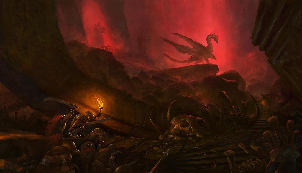 Imagenes Epicas Dragon_s_lair_by_grosnez-d7xo86x