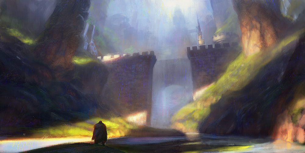 Old city - sketch color by Grosnez
