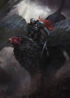 Griffin's rider by Grosnez