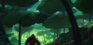 Nasturtium forest - enviro concept 2 by Grosnez