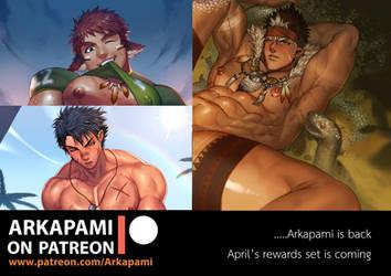 Sample of Arkapami patreon April rewards