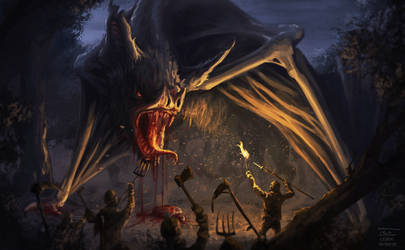 Bloodsucker dragon - Creatuanary 2021 by TeoLehog