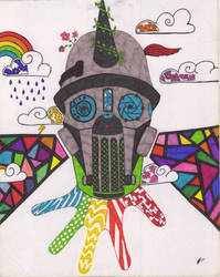 Gas Mask (color) by WalterBrick