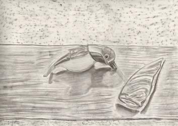 Charcoal Bird by WalterBrick