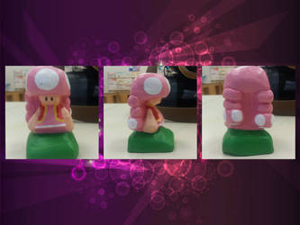 Toadette Sculpture by WalterBrick