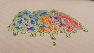 A lil Graffiti Sketch by WalterBrick