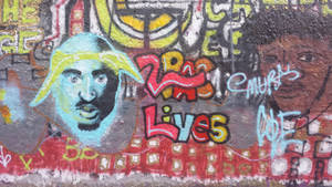 2PAC done with CD Ferguson by WalterBrick
