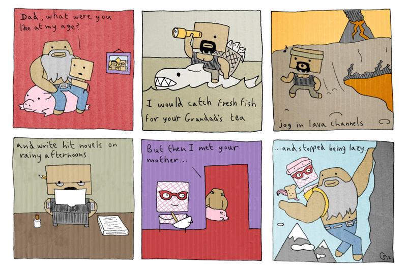 Cardboard Carls Childhood by JaffaCakeLover
