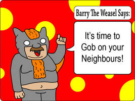 Barry The Weasel: Front by JaffaCakeLover