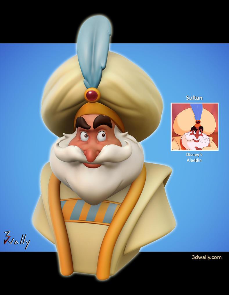 Sultan, Disney's Aladdi by ade2004wally