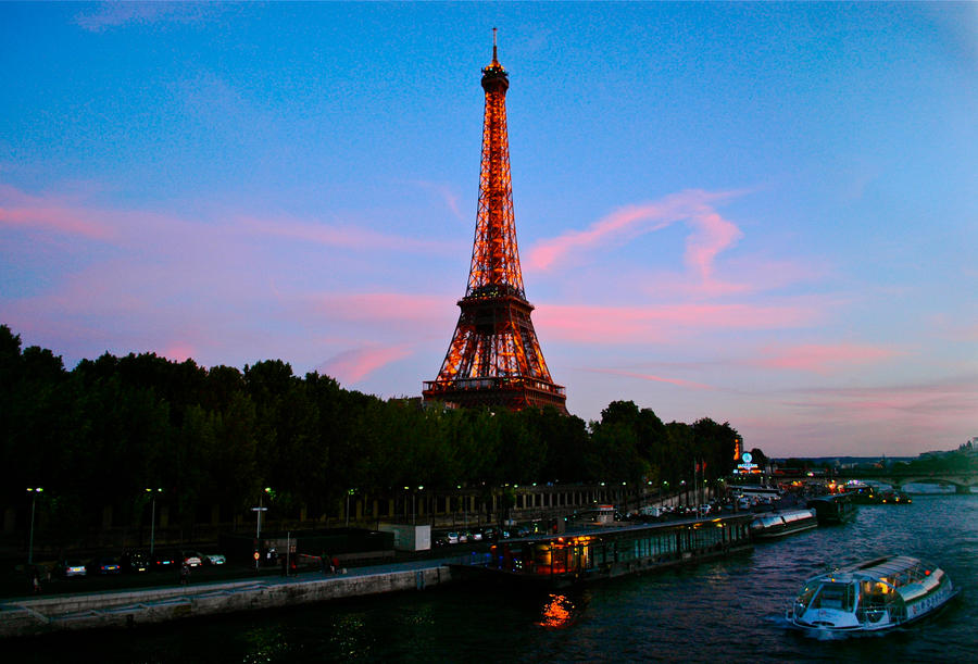 Eiffel Tower Black And White Landscape Eiffel Tower Landscape by