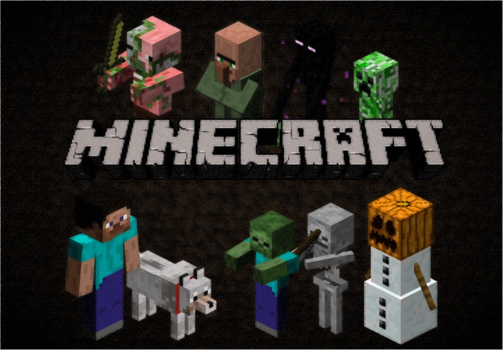 The minecraft wallpaper by lazulichaos