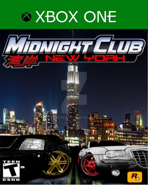 midnight club new york xbox game cover by zer0geo on